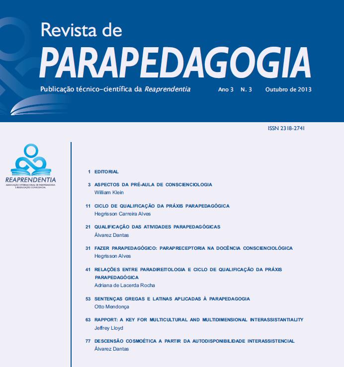 Revista de Parapedagogia Edição Especial Anais do II Simpósio de Parapedagogia Foz do Iguaçu – Outubro de 2013